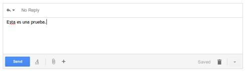 Campo de respuesta en Gmail