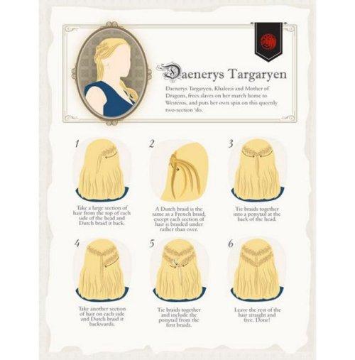 El peinado de Daenerys Targaryen